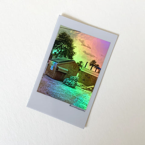 "Holographic Sticker - ""Rainbow Dumpster"""