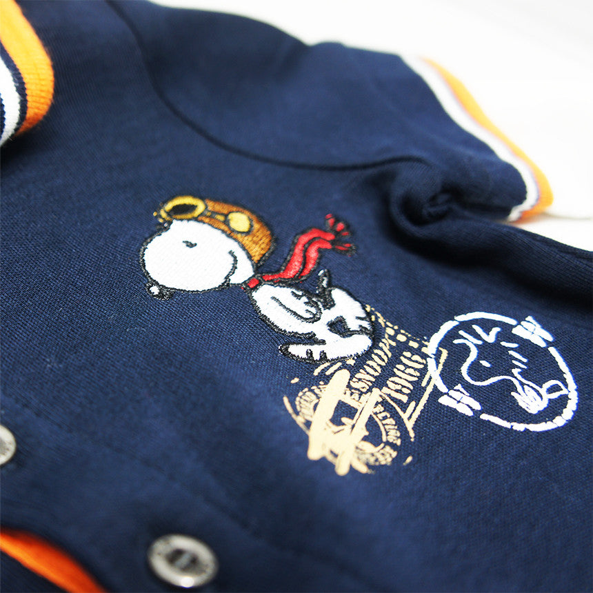 8dbef399302 ... Honey   Clover Kidswear   Children s Apparel - Snoopy Long Sleeve Polo  Tee for Baby Boy ...