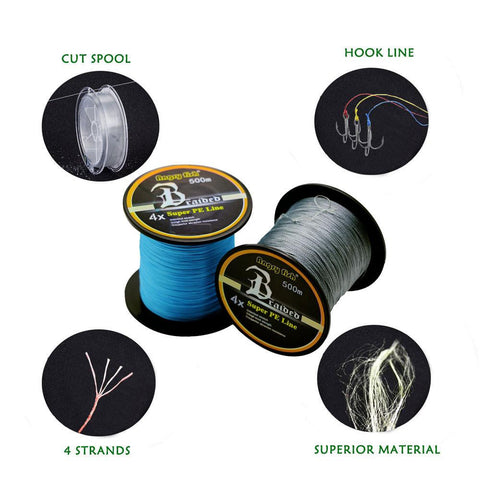 500m 4x Braided Fishing Line 11 Colors Super PE Line