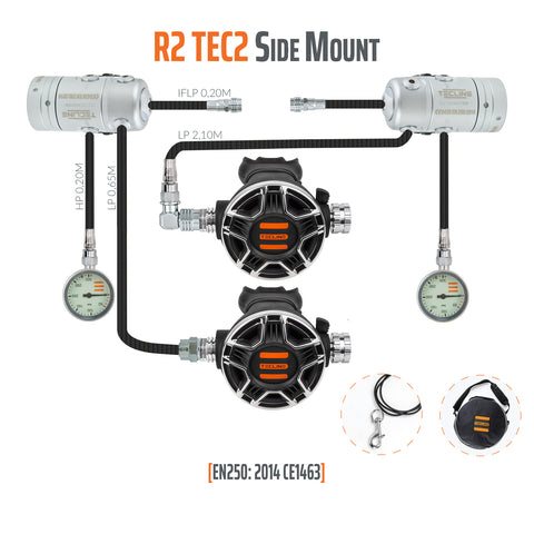 Tecline R2 TEC2 Sidemount Regulator Set