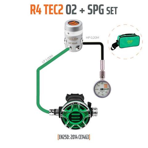 Tecline R4 TEC2 O2 + SPG Stage/Deco Regulator Set