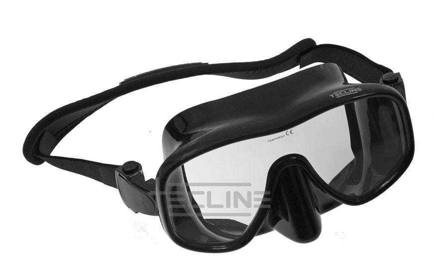 Tecline Frameless View Mask w/ Neoprene Slap Strap
