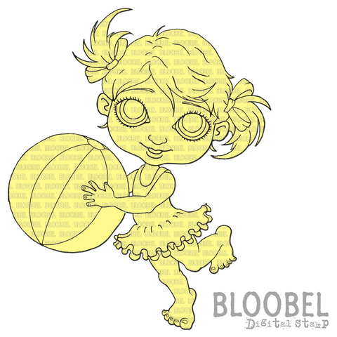 Beach Ball - Digital Stamps by Bloobel