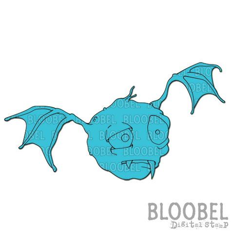 Bob The Bat - Digital Stamps by Bloobel