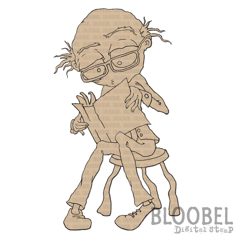 Bookworm Bob - Digital Stamps by Bloobel