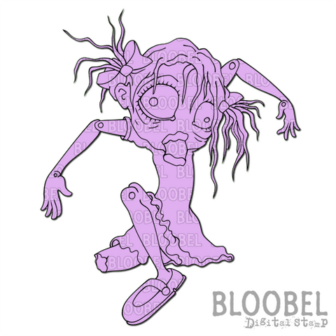 Broken Doll - Digital Stamps by Bloobel