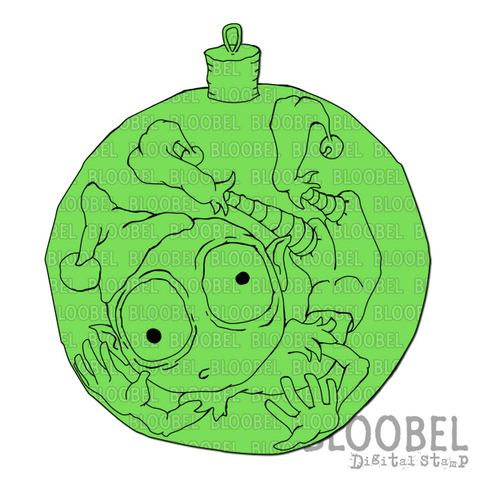 Christmas Ball Bill - Digital Stamps by Bloobel