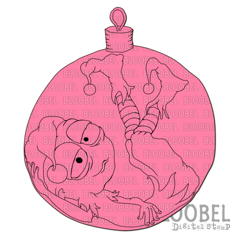 Christmas Ball Bob - Digital Stamps by Bloobel