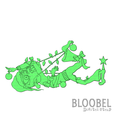 Christmas Chaos - Digital Stamps by Bloobel