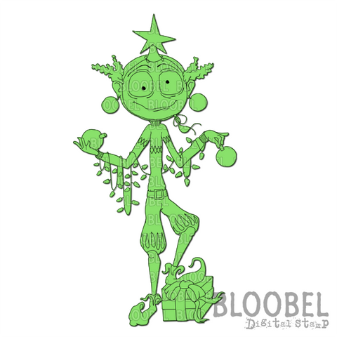 Christmas Tree Me - Digital Stamps by Bloobel