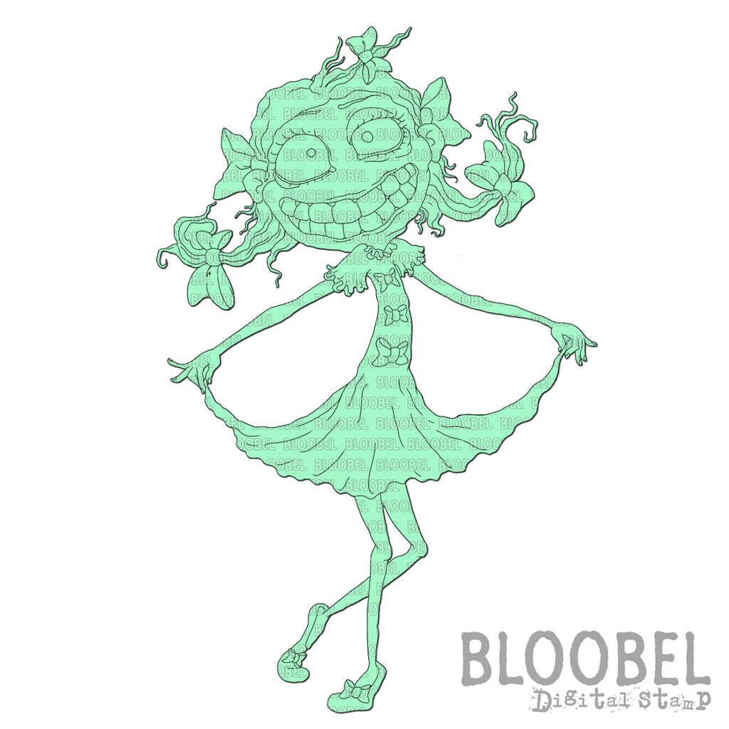 Curtsey - Digital Stamps by Bloobel