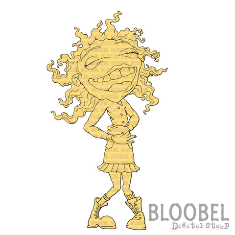 Giggles - Digital Stamps by Bloobel