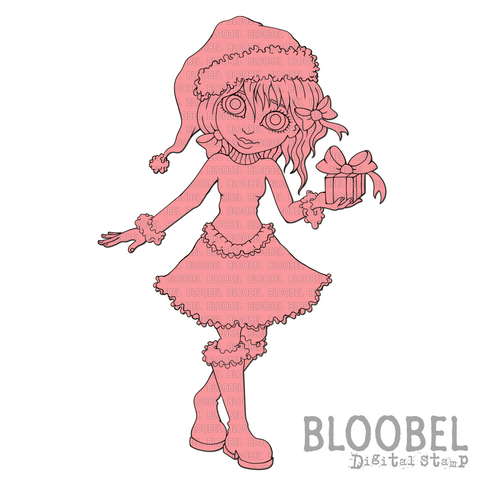 Little Christmas Gift - Digital Stamps by Bloobel