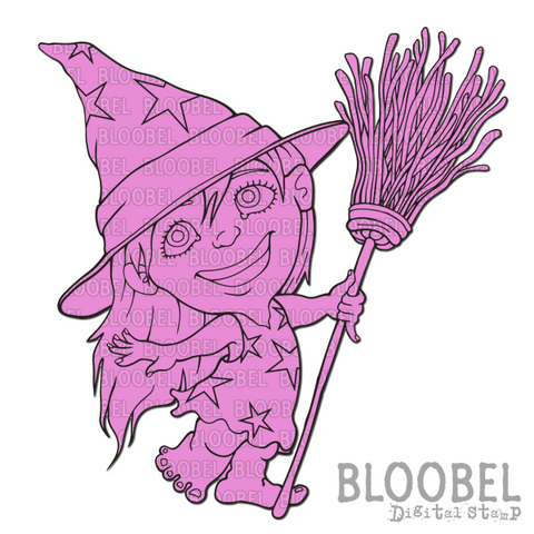 Witch Treat - Digital Stamps by Bloobel
