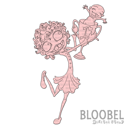 Number One Mum - Digital Stamps by Bloobel
