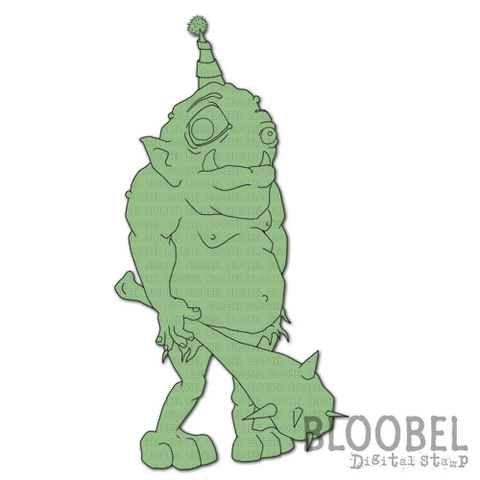 Ogre - Digital Stamps by Bloobel