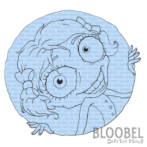Peek A Boo Lulu - Digital Stamps by Bloobel