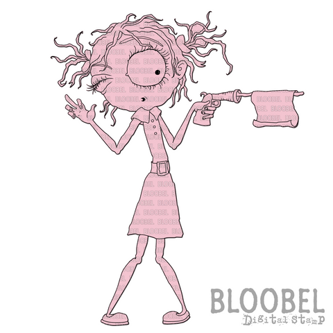 Pop Gun - Digital Stamps by Bloobel