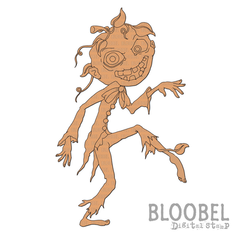 Pumpkin Head - Digital Stamps by Bloobel
