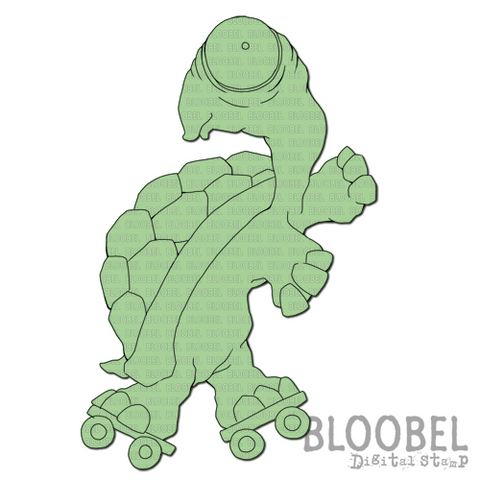Quirky Tortoise - Digital Stamps by Bloobel