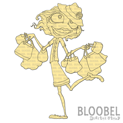 Shopaholic - Digital Stamps by Bloobel
