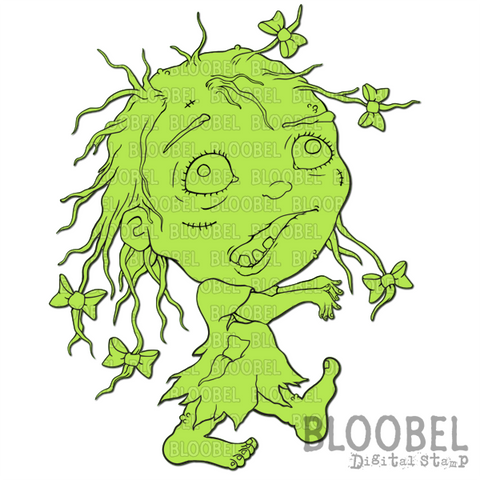 Sweet Zombie - Digital Stamps by Bloobel