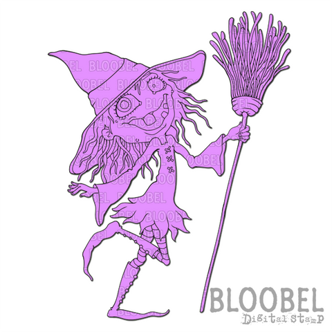 Witch Trick - Digital Stamps by Bloobel