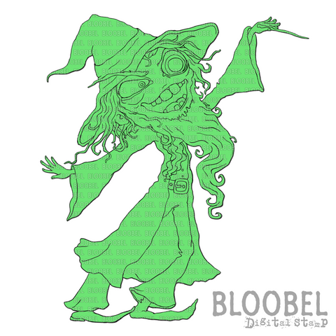 Wicked Wizard - Digital Stamps by Bloobel