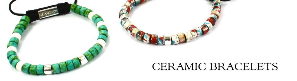 Men's Ceramic Bead Bracelets