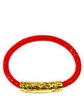 Men's Red Stingray Bracelet with Gold Lock | Clariste Jewelry - 2