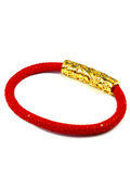 Men's Red Stingray Bracelet with Gold Lock | Clariste Jewelry - 3