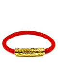 Men's Red Stingray Bracelet with Gold Lock | Clariste Jewelry - 4