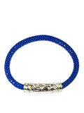Men's Blue Stingray Bracelet with Silver Lock | Clariste Jewelry - 2