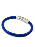 Men's Blue Stingray Bracelet with Silver Lock | Clariste Jewelry - 3