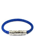 Men's Blue Stingray Bracelet with Silver Lock | Clariste Jewelry - 4