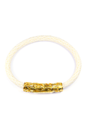 Men's White Stingray Bracelet with Gold Lock | Clariste Jewelry - 2