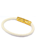 Men's White Stingray Bracelet with Gold Lock | Clariste Jewelry - 3