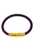 Women's Purple Stingray Bracelet with Gold Lock | Clariste Jewelry - 2