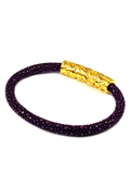 Women's Purple Stingray Bracelet with Gold Lock | Clariste Jewelry - 3