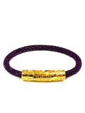 Women's Purple Stingray Bracelet with Gold Lock | Clariste Jewelry - 4