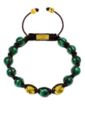 Men's Beaded Bracelet with Malachite | Clariste Jewelry
