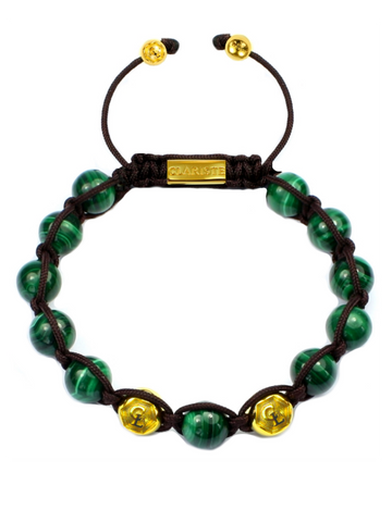Men's Beaded Bracelet with Malachite