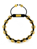 Men's Beaded Bracelet with Clariste Beads Gold | Clariste Jewelry