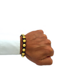 Men's Beaded Bracelet with Clariste Beads Gold | Clariste Jewelry - 3