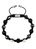 Men's Beaded Bracelet with Hematite and Black Agate | Clariste Jewelry