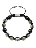 Men's Beaded Bracelet with Labradorite and Black Agate | Clariste Jewelry