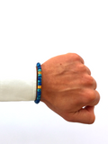 Men's Ceramic Bead Bracelet Turquoise, Blue and Gold | Clariste Jewelry - 2