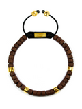 Men's Ceramic Bead Bracelet Brown and Gold | Clariste Jewelry