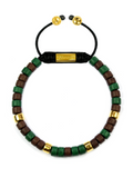 Men's Ceramic Bead Bracelet Green and Brown | Clariste Jewelry