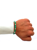 Men's Ceramic Bead Bracelet Green, White and Silver | Clariste Jewelry - 2